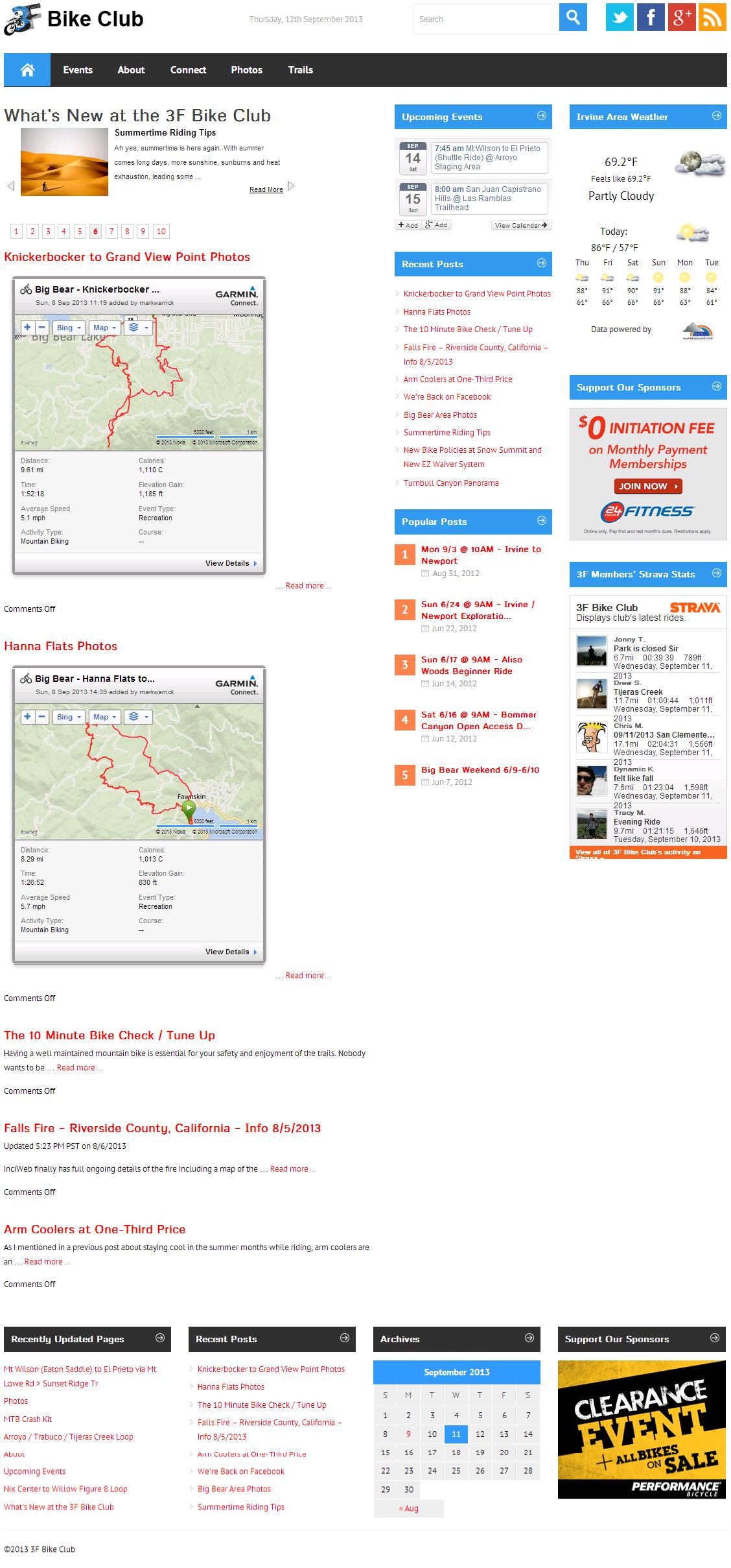 3F Bike Club Blogs